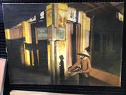 Sale 8995 - Lot 2057 - Artist Unknown Dark Alley 65 x 93cm, unsigned