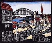 Sale 9072A - Lot 5081 - Margaret Preston (1875 - 1963) - Sydney Bridge 28 x 33 cm (frame: 56 x 68 cm)