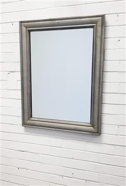 Sale 9112 - Lot 1083 - Silver painted timber frame mirror ( 97 x 75cm)
