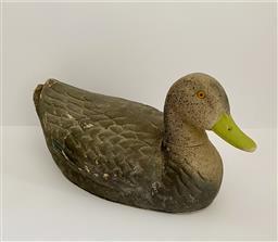 Sale 9142A - Lot 5049 - Ariduck Fibre Decoy Duck, St Louis, Missouri, 21 x 49 x 23 cm