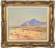 Sale 8349 - Lot 534 - Rubery Bennett (1893 - 1987) - Central Australia, Mt Conway, Macdonnell Ranges, 1959 36.5 x 44.5cm