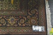 Sale 8347 - Lot 1050A - Fine Wool Tabriz, with concentric medallion & anchor, on black ground with small repeating pattern (210 x 150cm)