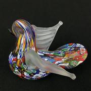 Sale 8402D - Lot 27 - Millefiori Art Glass Figure of a Dove (Height - 6cm)