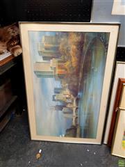 Sale 8640 - Lot 2031 - City Skyline Print