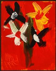 Sale 8665A - Lot 5096 - Kevin Charles (Pro) Hart (1928 - 2006) - Flowers 12.5 x 9.5cm