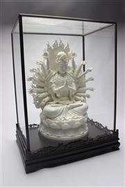 Sale 8689 - Lot 16 - Large Blanc De Chine Guanyin In Display Case