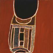 Sale 8718 - Lot 534 - Jean Baptiste Apuatimi (1940 - 2013) - Open Basket, 2012 natural pigments on linen