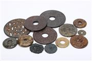 Sale 8719 - Lot 54 - Bi Disks Together With Other Circular Stone Pieces