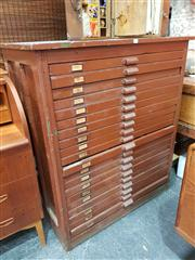Sale 8822 - Lot 1018 - Set of 20 Printers Drawers Ex Hamilton Printing Co