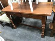 Sale 8817 - Lot 1083 - Timber 2 Drawer Hall table