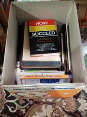Sale 8822B - Lot 879 - Box of Various Books incl. Adams, B. How to Succeed; Building Private Sector Support for the Arts; 2 vols. Wells, H.G. Outline...