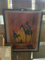 Sale 8924 - Lot 2054 - After Picasso Don Quixoteacrylic, 80 x 64cm (frame)