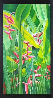 Sale 8949 - Lot 2012 - Artist Unknown Tropicana oil on canvas, 150 x 80cm, unsigned