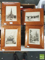 Sale 8413T - Lot 2072 - Molly OShea (c1890 - ) (4 works) - Early Scenes from Melbourne and Sydney 24.5 x 19cm (frame size)