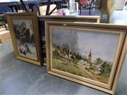 Sale 8417T - Lot 2078 - Group of (3) Oil Paintings, framed various sizes