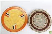 Sale 8466 - Lot 87 - Crown Ducal Cabinet Plate with Indonesian Timber Inlaid Plate