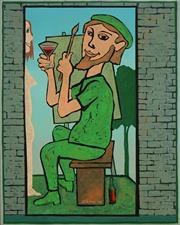 Sale 8504 - Lot 506 - Andrew Sibley (1933 - 2015) - Artists Retreat, 2005 48 x 38cm