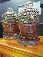 Sale 8545 - Lot 1004 - Pair of Buddha Busts