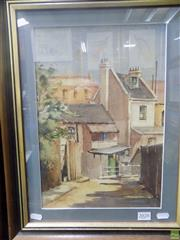 Sale 8557 - Lot 2028 - Ette Fitzell - Back Lane, Paddington 37 x 25cm (frame size: 51 x 40cm)