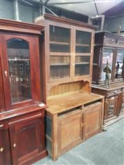 Sale 8688 - Lot 1012 - Vintage Pine Kitchen Dresser with Hutch