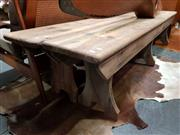 Sale 8741 - Lot 1009 - Pair of Rustic Timber Four Seater Benches ex Goulburn Goal