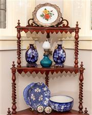 Sale 8804A - Lot 122 - Three shelves of ceramics and glass including a Royal Doulton Willow bowl