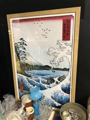 Sale 8819 - Lot 2179 - Framed Japanese Print (66cm x 97cm)