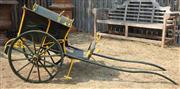 Sale 8871H - Lot 9 - An antique childs pull-along cart, height 100, length 234cm