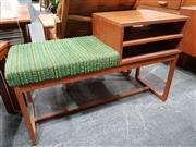 Sale 8908 - Lot 1034 - Teak Telephone Table with Upholstered Seat