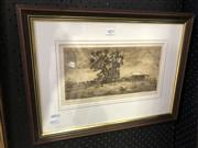 Sale 8906 - Lot 2093 - Gary Baker - The Old Dairy drypoint etching ed. 16/20, signed -