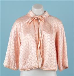 Sale 9092F - Lot 87 - TWO QUILTED VINTAGE SLEEP JACKET, one with tie up collar, both size S-M