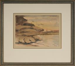 Sale 9139 - Lot 2002 - John Santry (1910 - 1990) - Vaucluse, 1979 18.5 x 26 cm (frame: 40 x 46 x 2 cm)