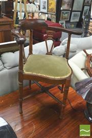 Sale 8418 - Lot 1051 - Mahogany Corner Chair