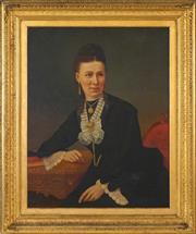Sale 8459 - Lot 575 - C19th School (XIX) - Portrait of a Young Woman 90 x 70cm