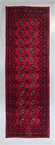Sale 8480C - Lot 38 - Afghan Turkman Runner 250cm x 80cm