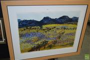 Sale 8513 - Lot 2059 - Gail English - Purple Spring, 1996, lithograph ed. 34/55, 100 x 125cm, signed and dated lower right