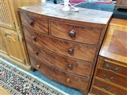 Sale 8680 - Lot 1046 - Late Georgian Bow Front Chest of Five Drawers