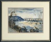 Sale 8853 - Lot 2048 - Kenneth Jack (1924 - 2006) - Hawkesbury River Landscape, 1952 21 x 30cm