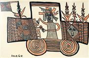 Sale 8847A - Lot 5008 - Mathias Kauage (1944 - 2003) - Untitled 41.5 x 63cm
