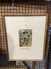 Sale 8906 - Lot 2026 - M. Irwin - Members of the Team chromolithograph, 42.5 x 35.5cm (frame)