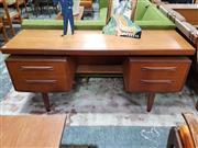 Sale 8930 - Lot 1053 - G-Plan Teak Mirrored Back Dressing Table