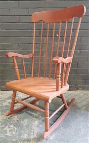 Sale 8971 - Lot 1089 - Timber Rocking Chair (H:110 x W:58 x D:71cm)