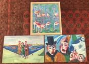 Sale 9011 - Lot 2072 - Group of Original Paintings by Pamella M Regan-Fox, framed/various sizes