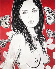 Sale 9034A - Lot 5047 - David Bromley (1960 - ) - Mallory 89 x 71 cm (frame: 112 x 93 x 2 cm)
