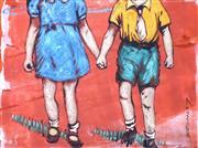 Sale 9072A - Lot 5071 - David Bromley (1964 - ) - Friendship 20 x 27 cm (frame: 53 x 57 cm)