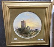 Sale 9087 - Lot 2015 - W. McEvoy (C19th), Churchyard, 1897, oil on academic board, frame: 42 x 42 cm, signed and dated lower right