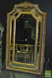 Sale 8390 - Lot 1558A - Large Ornate Gilt Framed Bevelled Edge Mirror (202 x 119cm)