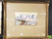 Sale 8413T - Lot 2061 - Harold Herbert (1892 - 1945) - Mountainscape 16 x 26.5cm