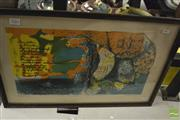 Sale 8425T - Lot 2082 - Grete Balle, limited edition lithograph, 27 x 46.5cm, signed lower right