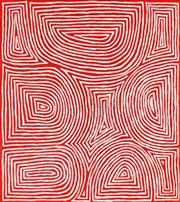 Sale 8675 - Lot 580 - Jake James Tjapaltjarri (1970 - ) - Tingari 99 x 88cm